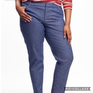 Old Navy Plus Size Denim Chambray Pixie Pant